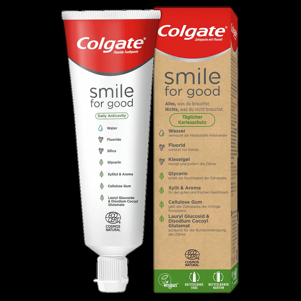 Colgate_Smile for Good Zahnpasta und Verpackung_Kariesschutz_75 ml_©CP GABA_fA