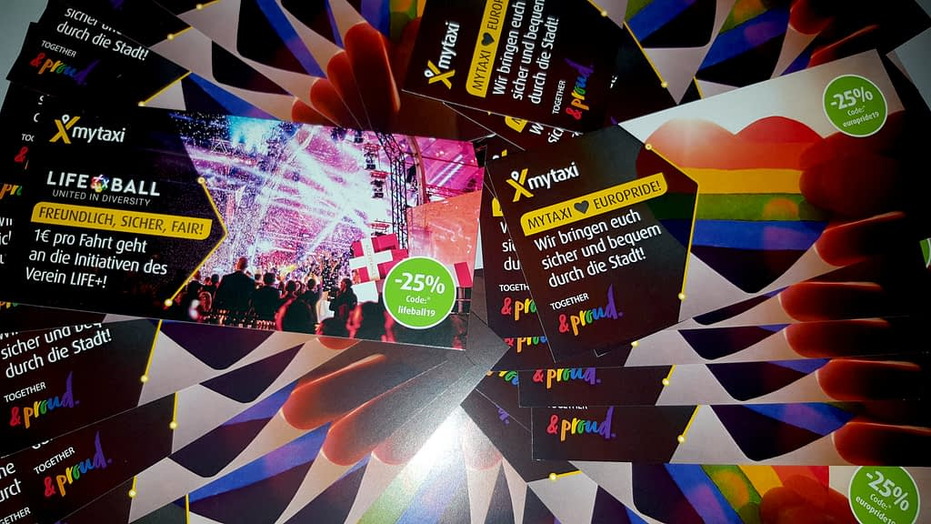 mytaxi unterstützt EuroPride & Life Ball 1