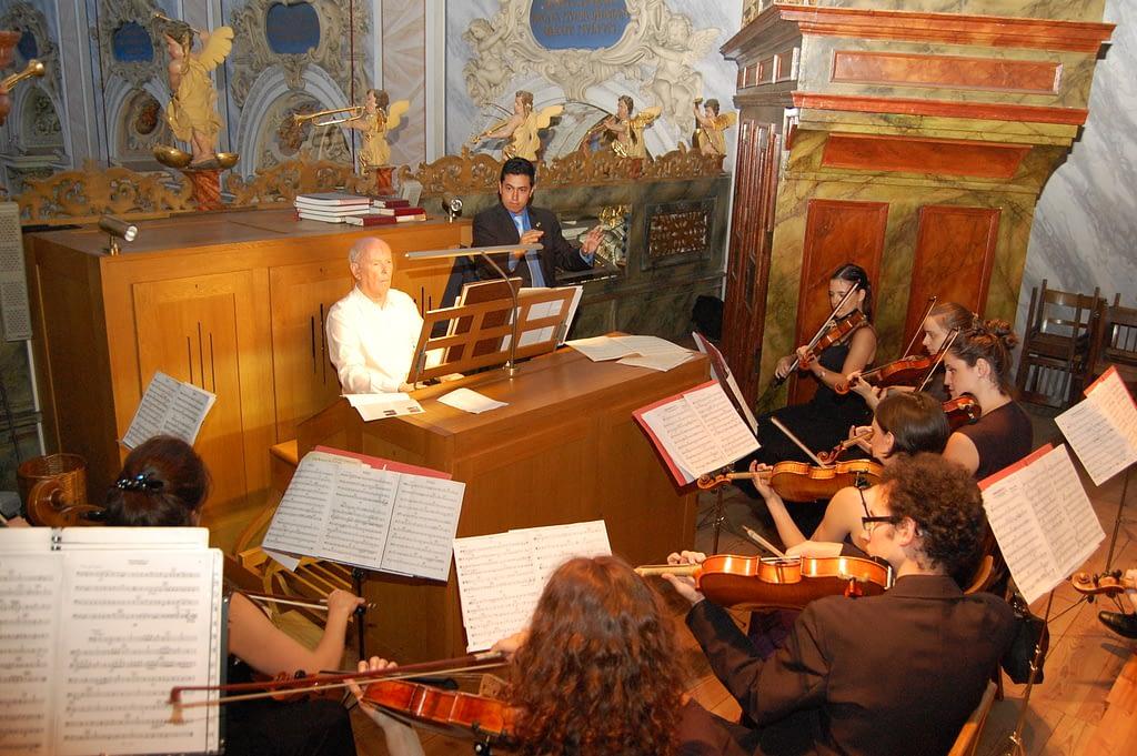 Franz Haselböck und Camerata Vienne beim Orgelkonzert im Stift Göttwig 2015 Credit_Evelyne Gruber Stift Göttweig